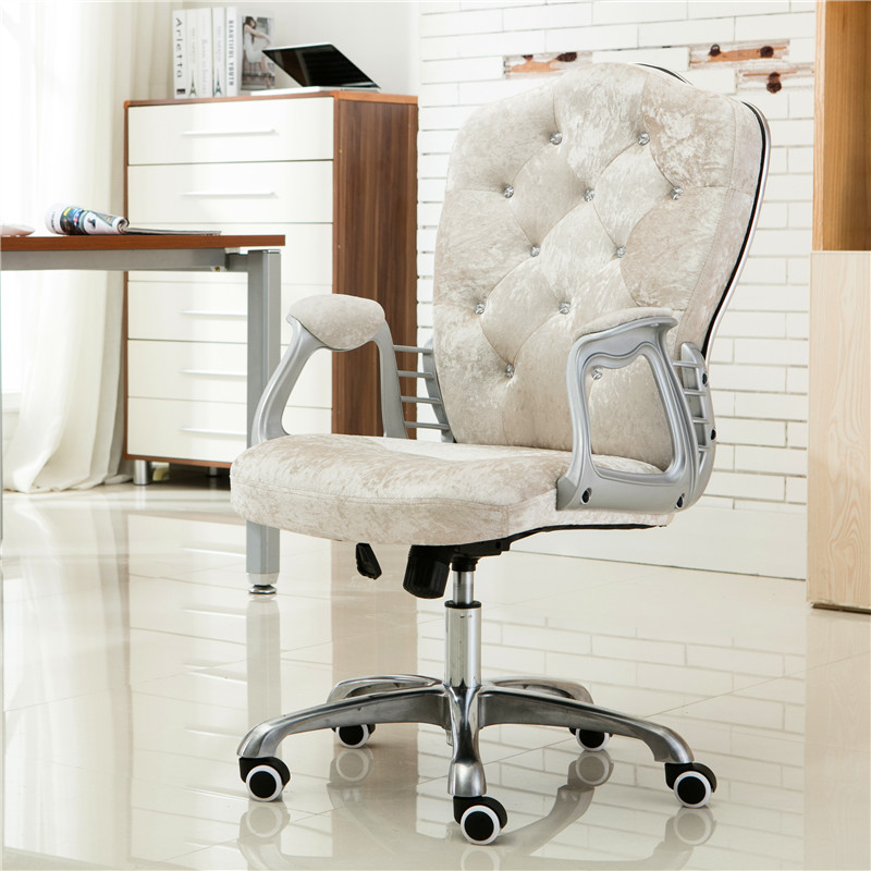 Image 5 - Multi Color Luxury Royal PU Home Computer Chair velvet Fabric Middle Back Manager Chair Modern Ergonomic Office Task Chair C60-in Office Chairs from Furniture