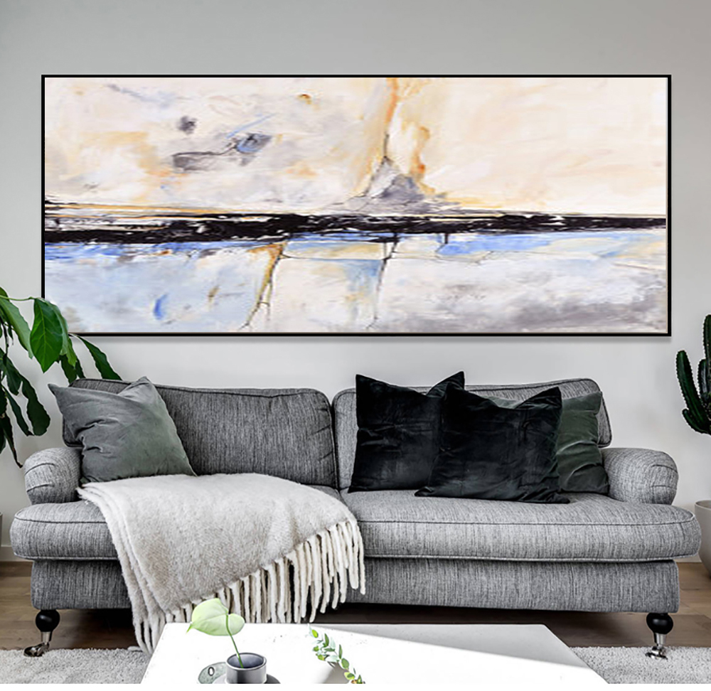 US $38.56 16% OFF|MUYA Abstract Painting acrylic Painting Abstract Art Wall  Paintings Living Room Bedroom Home Interior Beach House Decor Gift-in ...