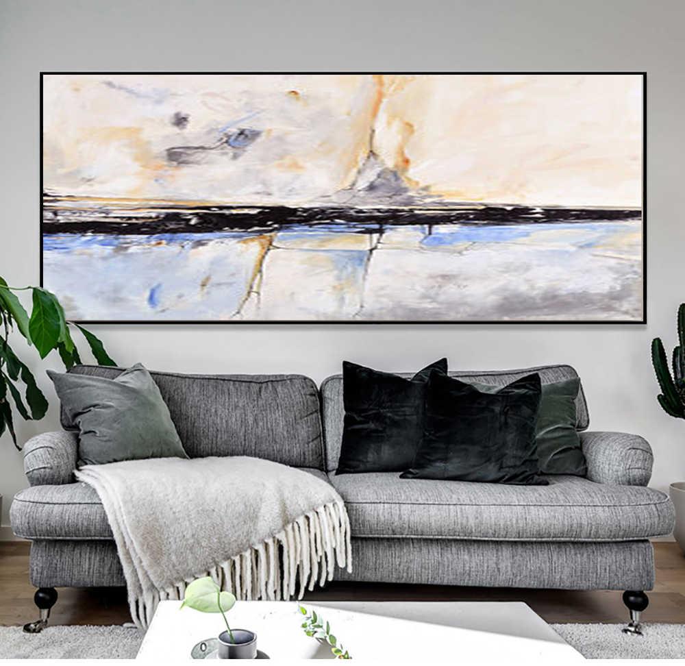 Muya Peinture Abstraite Peinture Acrylique Art Abstrait Peintures Murales Salon Chambre Maison Intérieur Plage Maison Décor Cadeau
