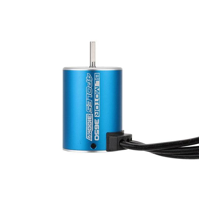 New 3650 3100KV 4 Poles Sensorless Brushless Motor for 1/10 RC Car Parts