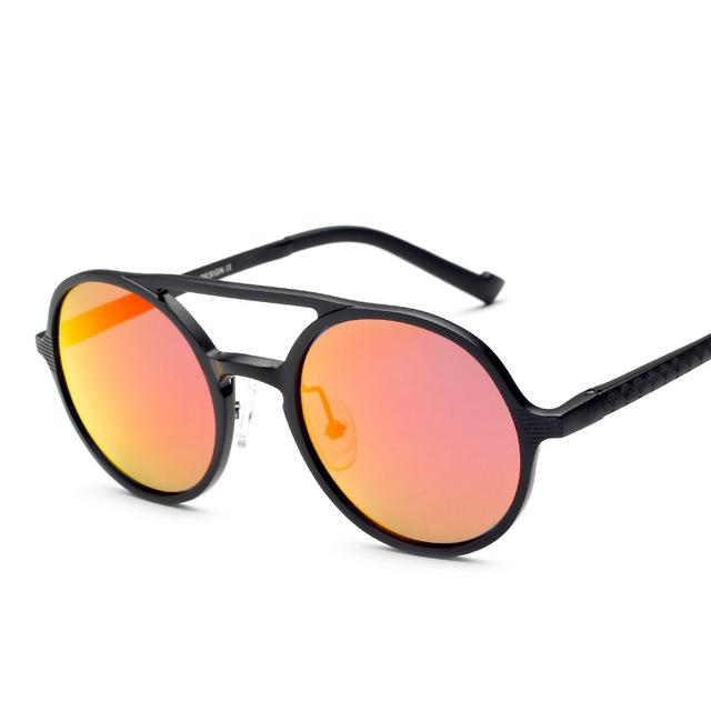 Novo alumínio magnésio polarizadas óculos de sol redondos homens óculos de condução espelho fabricantes óculos de sol Eyewears Oculos de sol