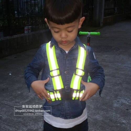 2016 Children To Use Visibility Working Warning Waistcoat Outdoor For Running Cycling Vest Harness Reflective Belt