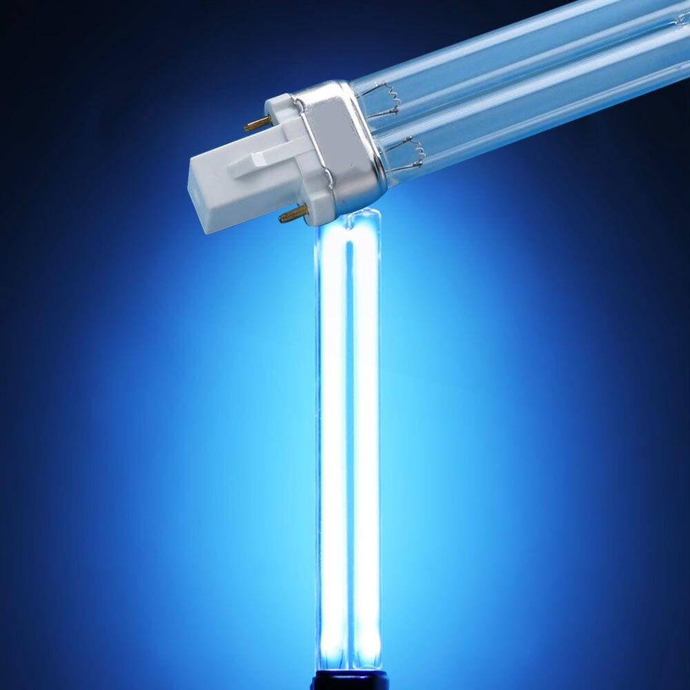 UVC Quartz Replacement Linear Twin Tube Light Bulb SUNSUN Jebo UV Sterilizers Clarifiers Aquariums 5w -36w Bi-pin G23 Base