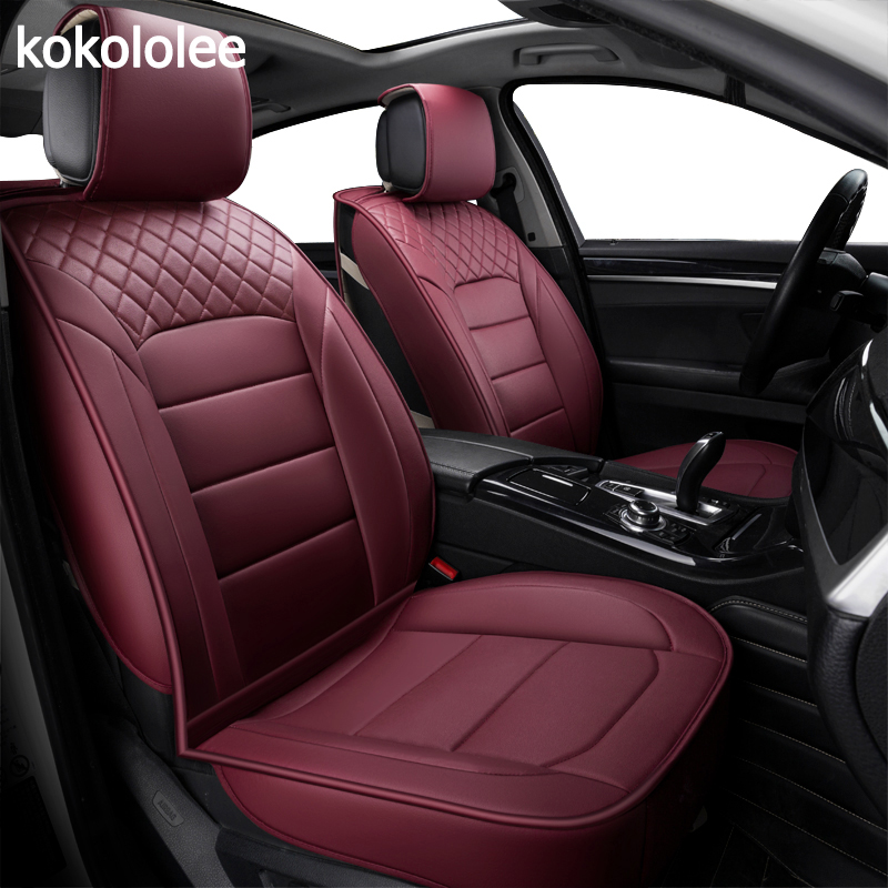 kokololee pu Leather Car seat covers For skoda kodiaq fiat linea kia rio 2017 kadjar