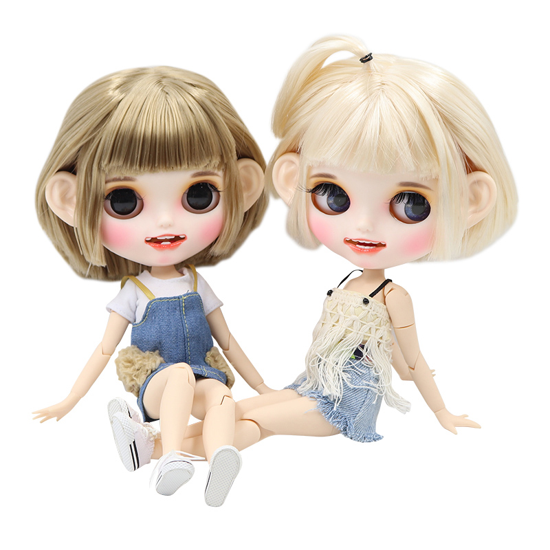 ICY factory blyth doll custom doll 1 6 bjd white skin joint body new matte face