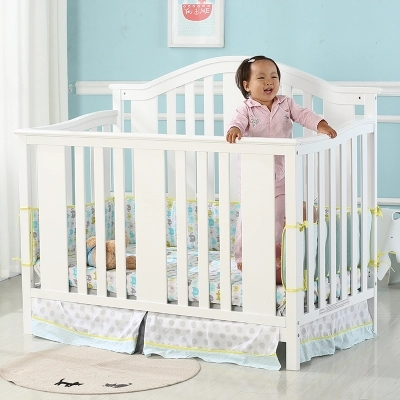 Cribs solid wood lacquered children's bed baby bb game bed european solid wood cribs solid wood children s bed baby bed multi purpose children s bed