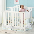 Cribs solid wood lacquered children's bed baby bb game bed