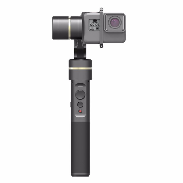 Feiyu fy G5 g5 Splash-Proof 3-eixo Cardan Handheld para GoPro hero5 hero 5 4 3 + 3 feiyu g4 g4s atualização versão