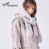 VIANOSI 100% Wool Scarf Women Winter Shawl Thick Warm Scarves Women Cape Brand Foulard Luxury Cachecol Scarfs for Ladies VA226