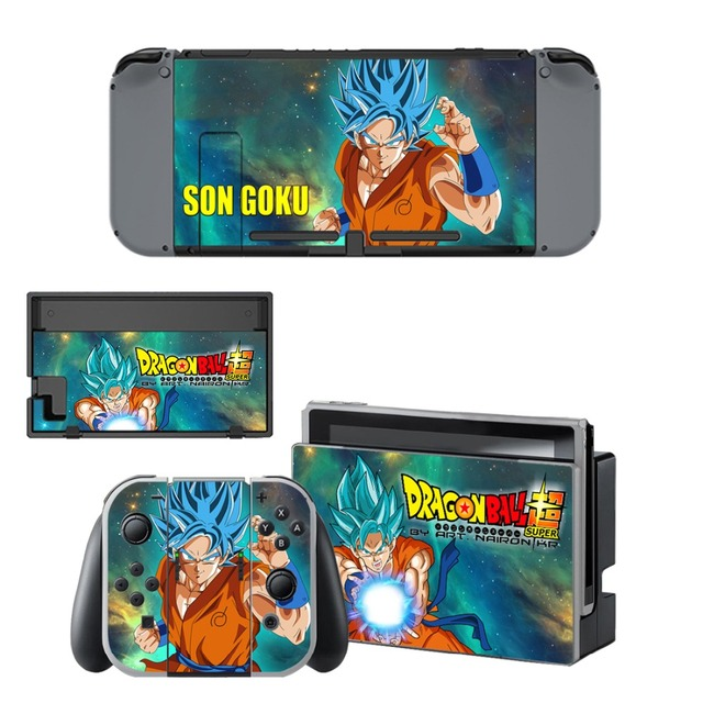 Switch Skin Nintend Switch Sticker Game Dragon Ball Stickers for Nintendo Switch Console & Joy-con Controller & Dock Protection