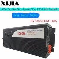 1000 Вт (peak2000W) чистый синусоидальный инвертор с солнечной контроллера 12 В 24 В до 220 В