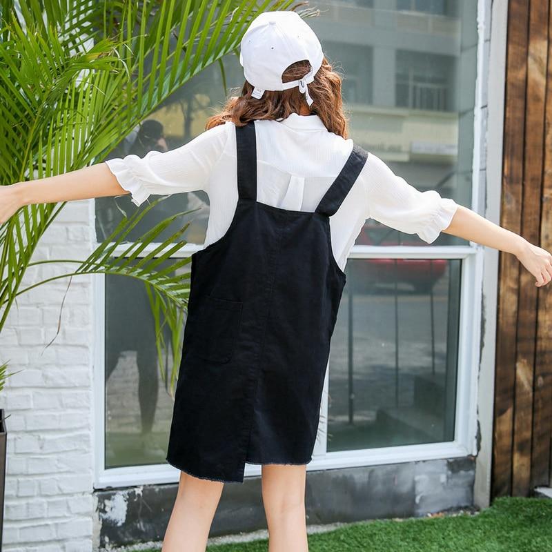 05852699e58 Vintage Noir Robe 2017 Mince Doux Jeans Robe Femmes Lavé Courte Bretelle  Denim Robe Denim Ensemble Robe Livraison Gratuite dans Robes de Mode Femme  et ...