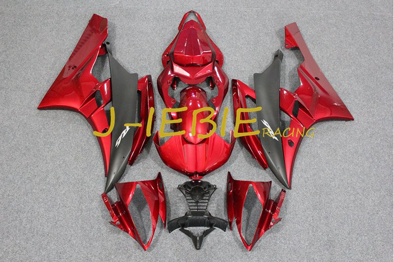 Red Injection Fairing Body Work Frame Kit for Yamaha YZF 600 R6 2006-2007