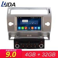 LJDA 1 Din Android 9.0 Car DVD Player For Citroen C4 Quatre Triumph Multimedia GPS Navigation Auto Radio Stereo 4GB RAM Stereo