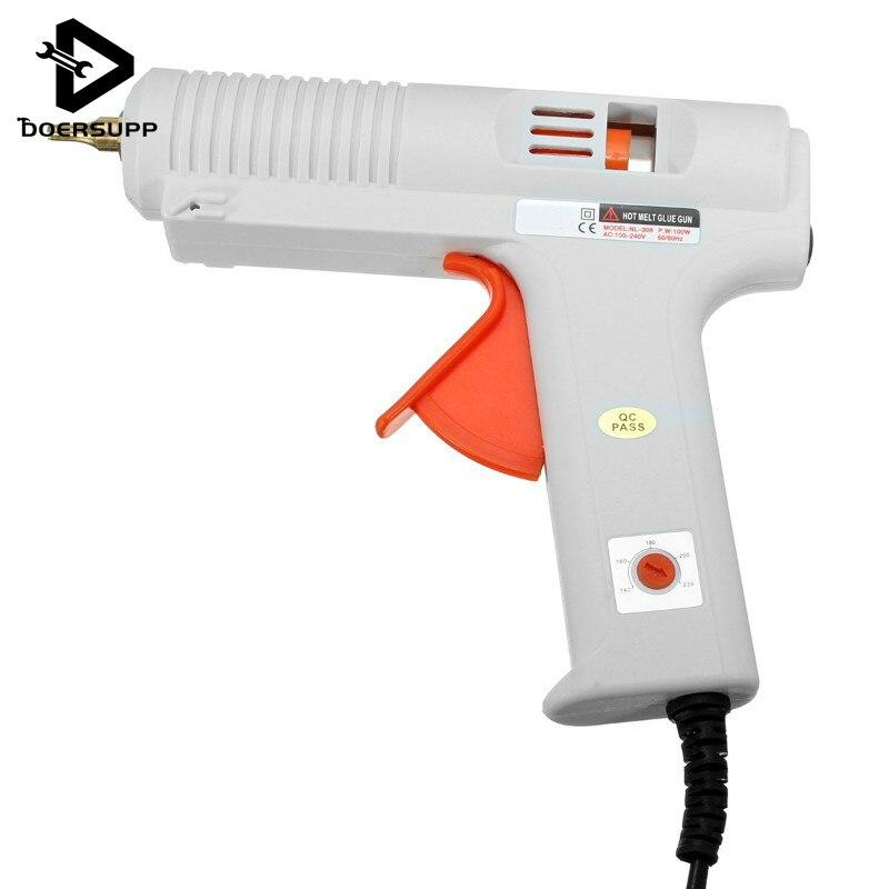 Hot Glue Gun EU Plug High Temp Heater 100W/120W adjustable constant temperature hot melt glue gun Graft Repair for AY194-SZ