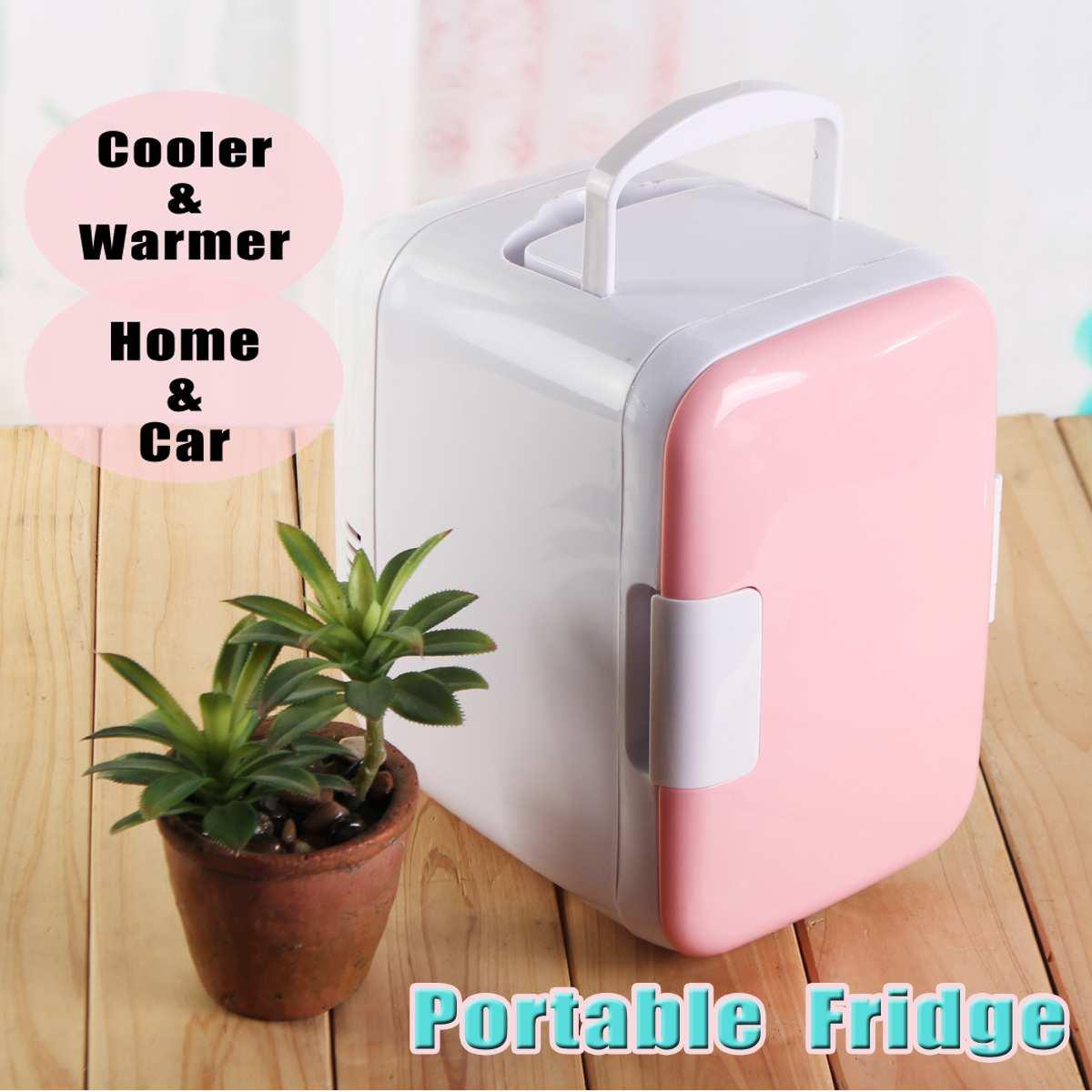 48W Dual-Use 4L Home Car Use Refrigerators Ultras Quiet Low Noise Car Mini Refrigerators Freezer Cooling Heating Box Fridge