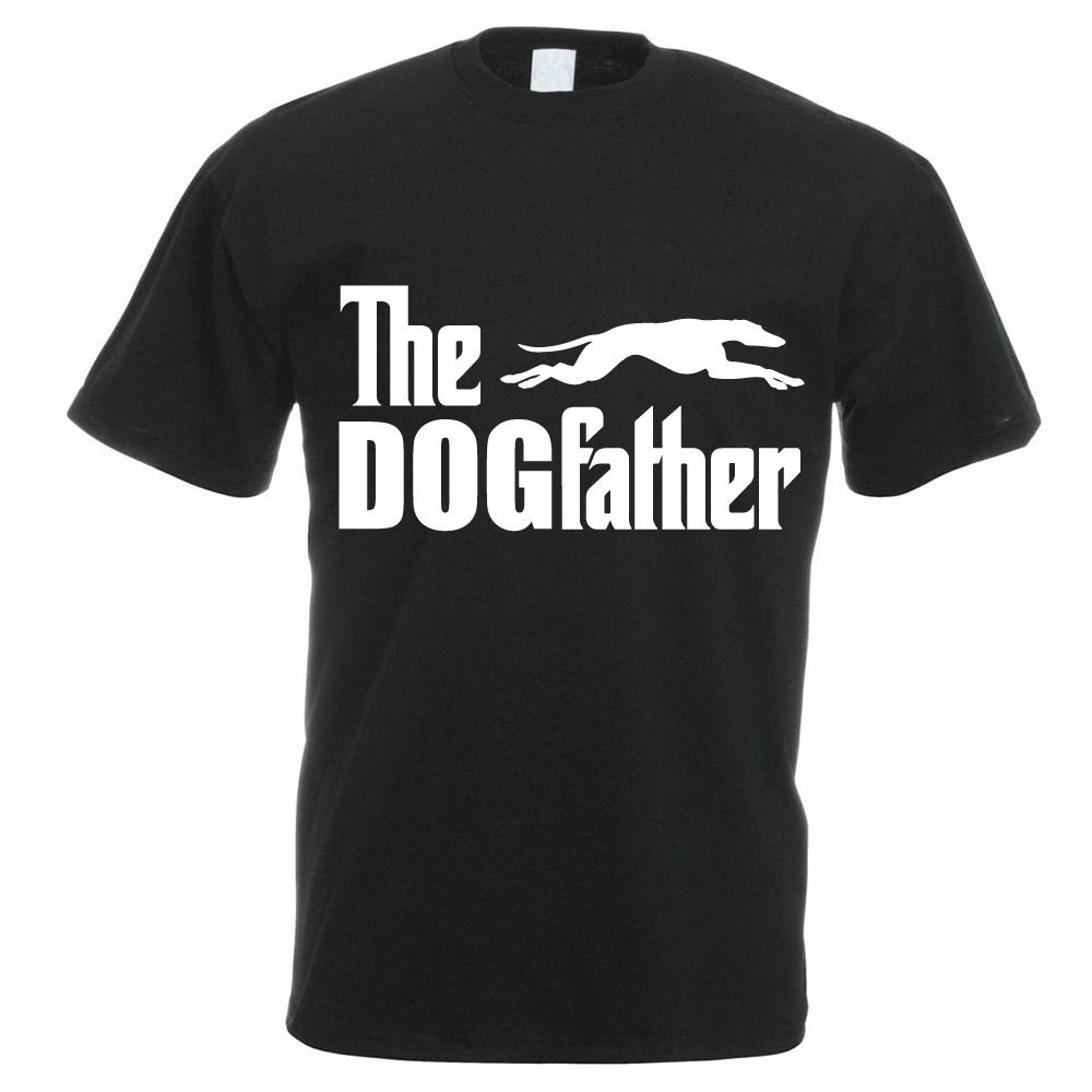 2018 Fashion Casual Men T-shirt THE DOGFATHER - Greyhound / Dog / Animal / Pet / Funny Themed Mens T-Shirt