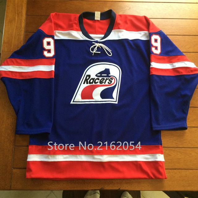 Wayne Gretzky  99 Indianapolis Racers Hockey Jersey White Blue Embroidery  Stitched Custom Any Name and Number Men s Jerseys a35033be7a6