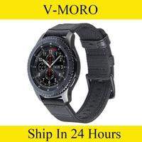 V Moro 22mm Premium Woven Nylon Replacement Strap Wrist Band For Samsung Gear S3 Classic Gear