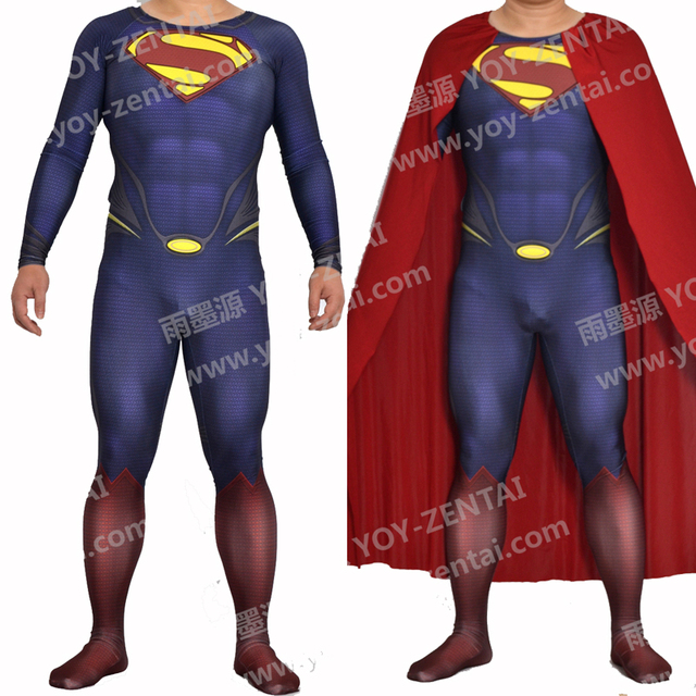 YOY-ZENTAI Man of Steel Cosplay Costume Superman Spandex Costume Custom Made Muscle ShadeSuperman Suit  sc 1 st  AliExpress.com & YOY ZENTAI Man of Steel Cosplay Costume Superman Spandex Costume ...