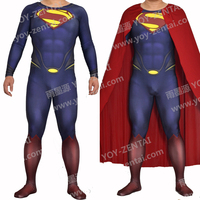 High Quality Man Of Steel Cosplay Costume Superman Spandex Costume Custom Made Muscle ShadeSuperman Suit Adult