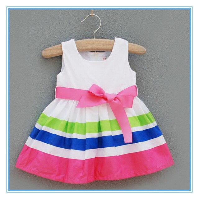 0bff19072 Vestidos Niñas Recién Nacidas Del Bebé Vestido 123-Years Niña Vestido de  Primavera y Verano