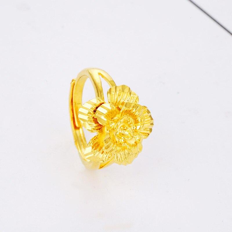 CHENFAN Women Gold Ring For Carnation Flowers Fashion Rings Forwomen 2019 Dainty Ring Finger Plating Live Port Adjustable Rings