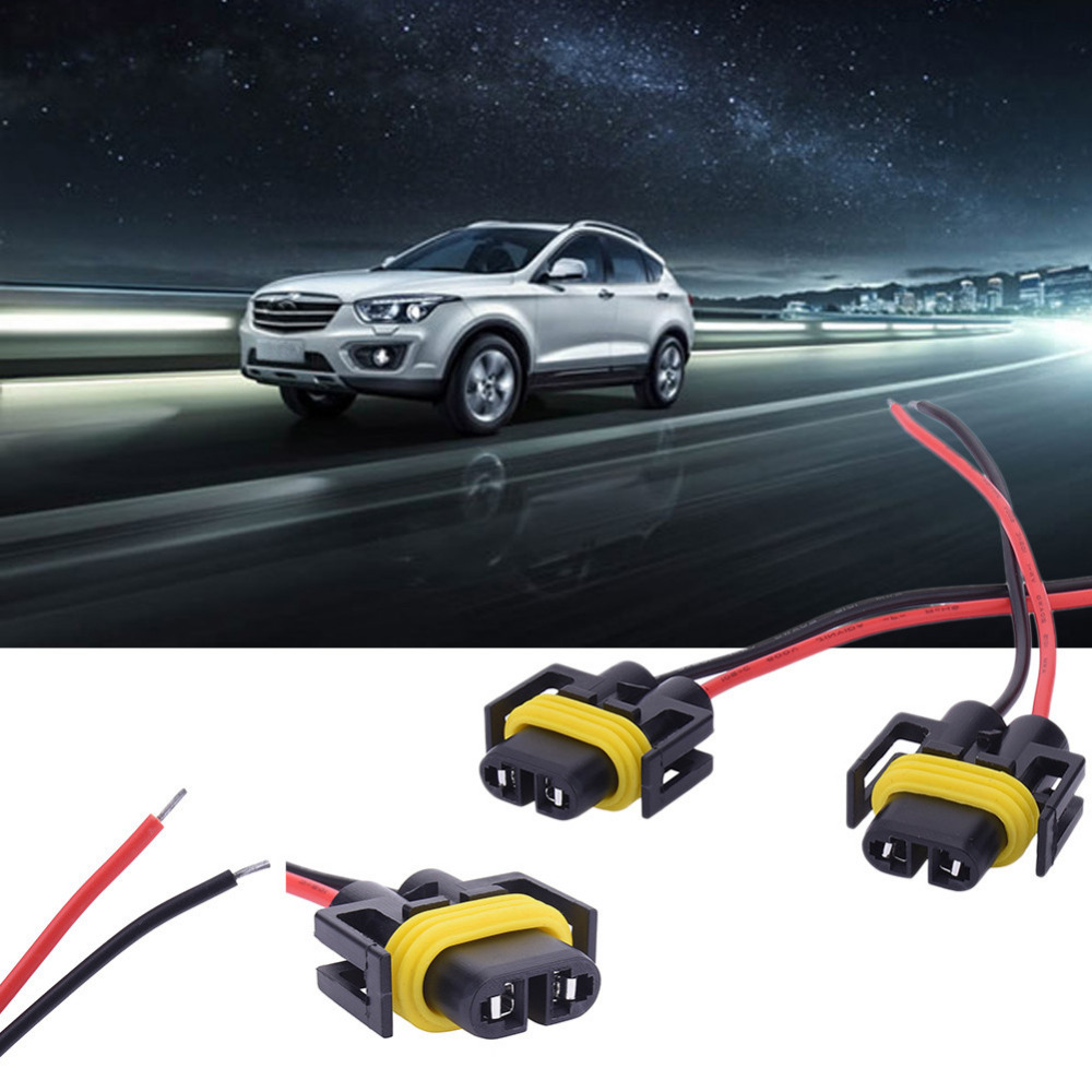2pcs H8 H11 Car Auto Wire Connector Cable Plug Wiring Harness Socket Female Adapter For Hid Xenon Headlight Fog Light Lamp Bulb In Bulbsled
