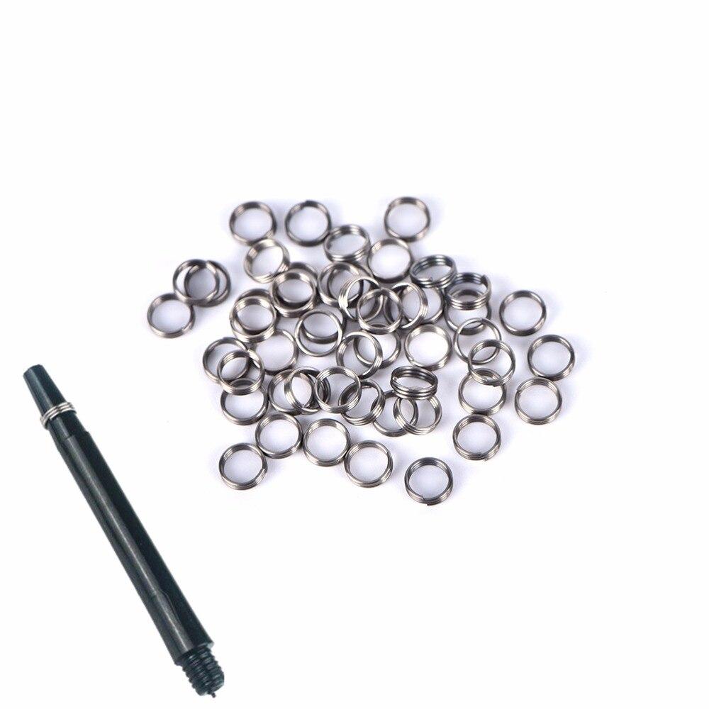 50Pcs Silver Stainless Steel Rings For Nylon Dart Flights Shafts Dart  Professional  Dart Shaft Accessories Hunting Dardos