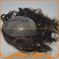 Тонкая кожа парик 8*10 БИО толщиной 0.14 ~ 0.16 мм ПОЛИ тупею вводят кремния Индийские волосы мужская toupee реми волос, парики