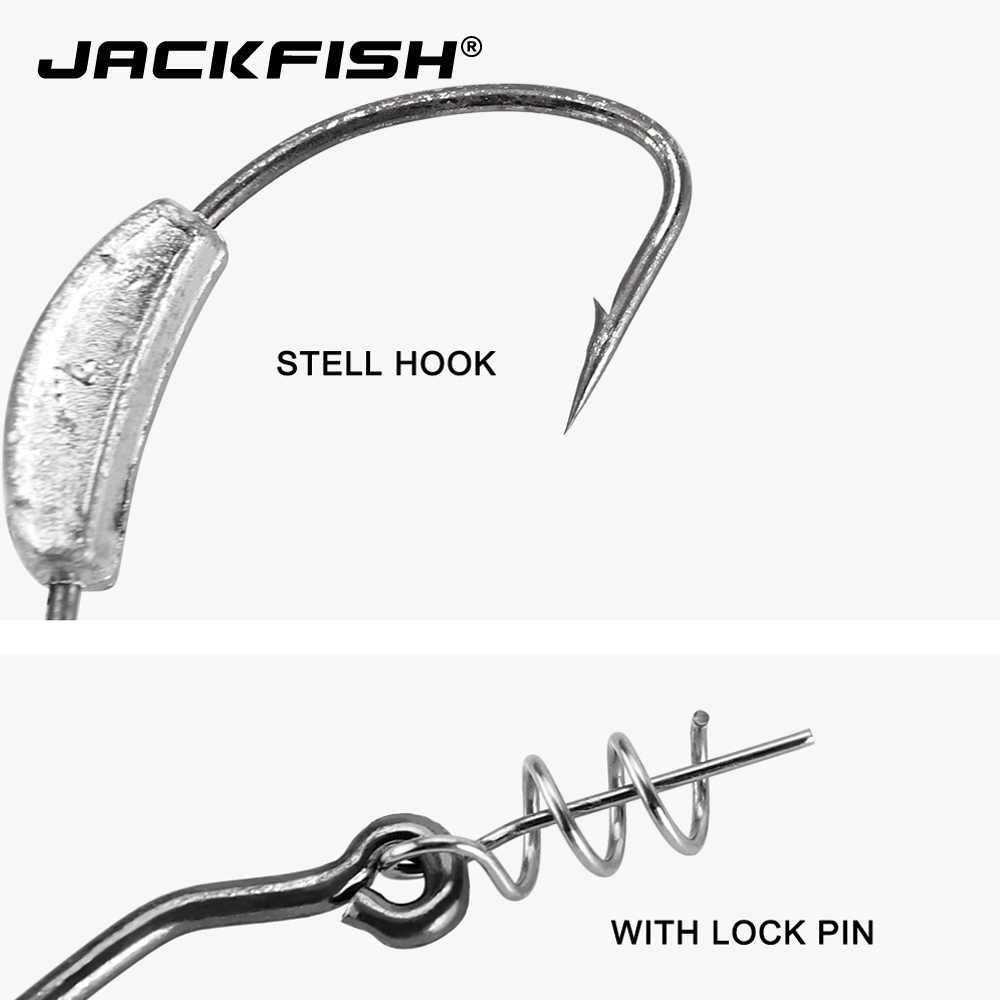 صنارة صيد السمك من JACKFISH برؤوس خطافية 2g/2.5g/3g/5g/7g صنارة صيد سمك الشبوط 5 قطعة/الوحدة صنارة صيد سمك الشبوط