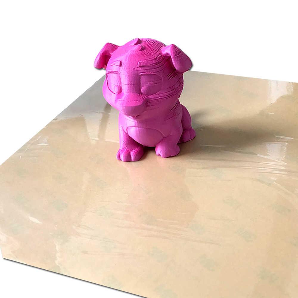 ENERGETIC 3D เครื่องพิมพ์แผ่น PEI 0.125/0.2 มม.ความหนา Amber สีสำหรับ 3D เครื่องพิมพ์ Ender-3 สร้างพื้นผิวเตียงอุ่น 235x235 มม.