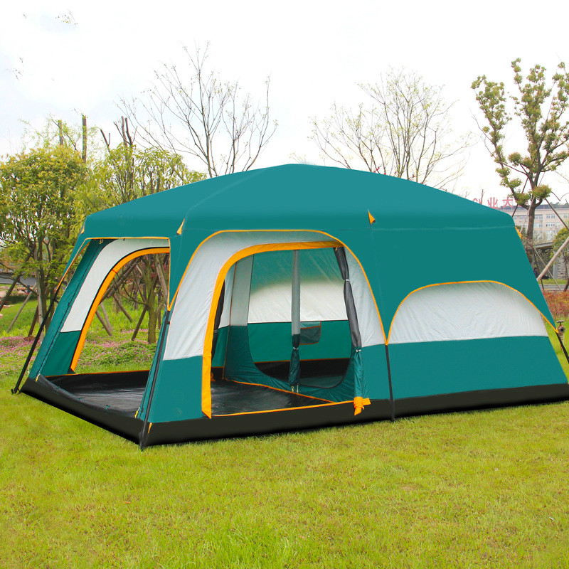 layer waterproof two bedrooms one living room family camping tent