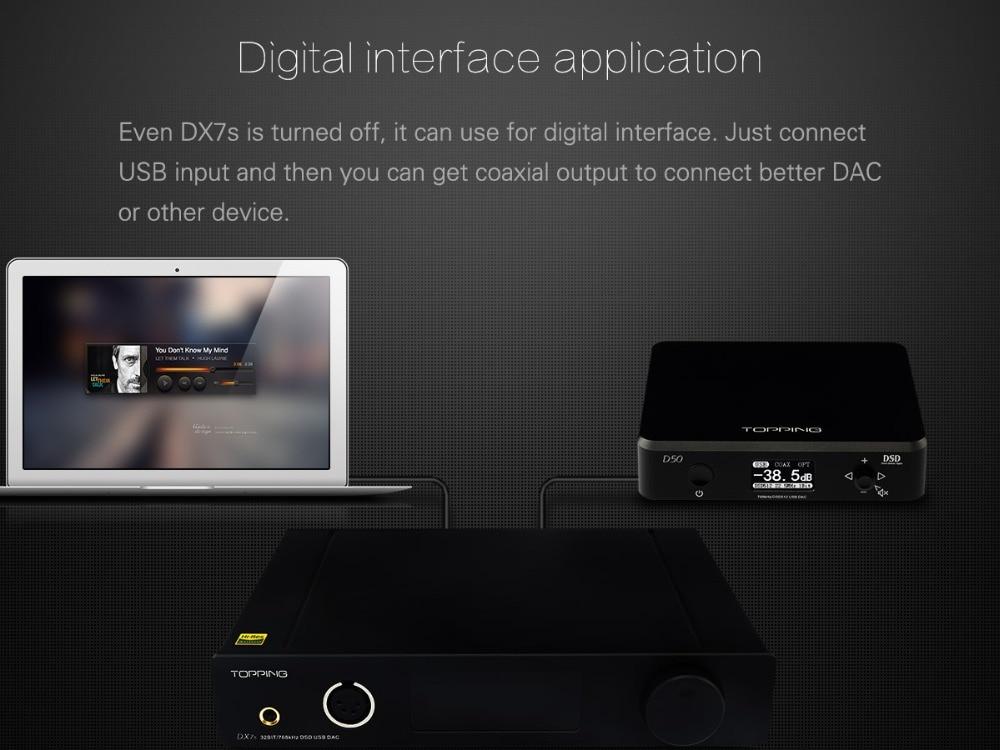 TOPPING DX7s 32Bit/768K DSD512 Full balanced USB DAC Amplifier-10