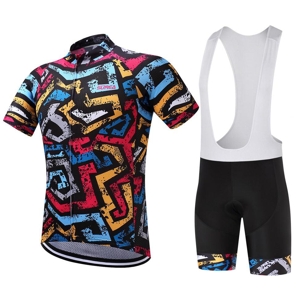 100% poliészter New Pro team Kerékpáros Jersey komplett kerékpáros ruházat Ropa Ciclismo lélegző rövid ujjú kerékpáros ruházat 9D padral