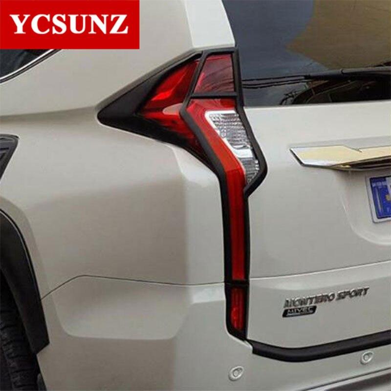 2016-2019 Pour Mitsubishi Pajero accessoires de Sport feux arrières Couverture Décoratif Pour Mitsubishi Montero Pajero Sport Pièces Ycsunz