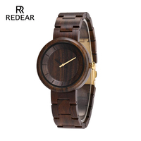 Redear Men Watches 2019 Luxury Brand Full Wood Watch Leisure Sports Japan Japan Movement Automatic Quartz Watches Family Gifts
