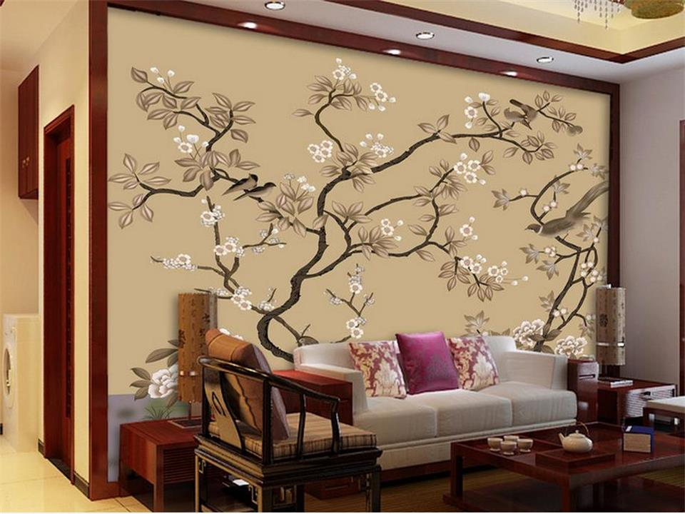custom 3d photo wallpaper living room mural flower and bird classic painting sofa TV background non-woven wallpaper for wall 3d custom photo wallpaper abstract tree 3d circles living room sofa tv background wall paper modern art painting 3d mural wallpaper