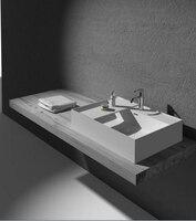 Ванная комната твердой поверхности Matt отделка мыть Пан прямоугольный выше столешницы ручная раковина Corain гардероб умывальник RS38331 825