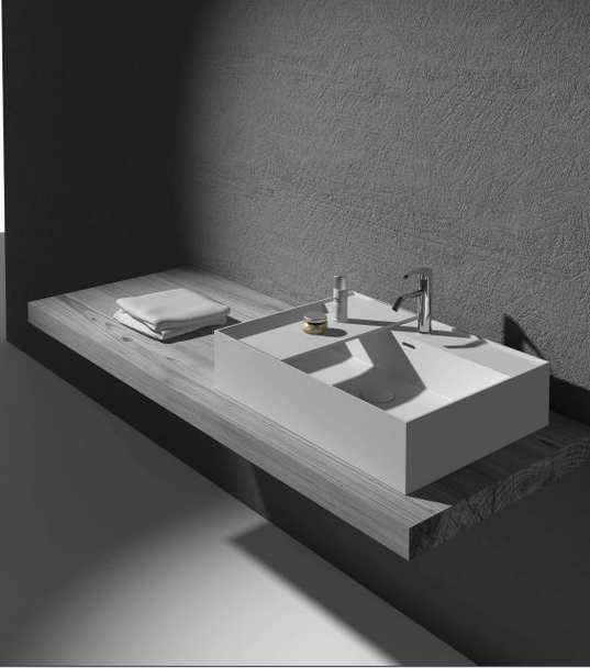 Bathroom solid surface Matt Finishing Wash Pan Rectangular Above Counter Top Hand Sink Corain Cloakroom Washbasin RS38331 825