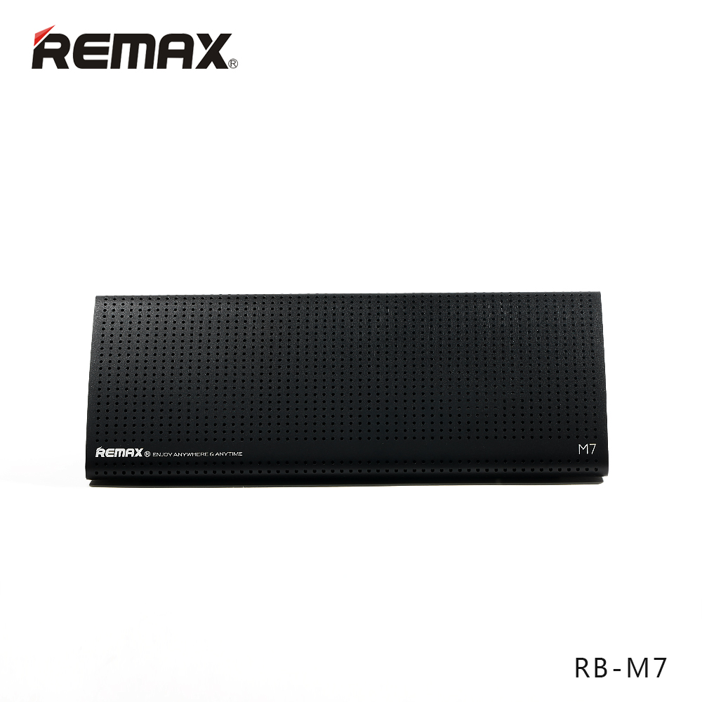 REMAX M7 Bluetooth Speakers Aircraft-grade Aluminum 5Wx2 USB Sound Card 2.0 Stereo FM Radio HiFi Sound with HD Mic for Iphone/PC usb 2 0 7 1ch stereo sound card adapter white