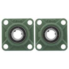 30mm/25.4mm UCF205/205-16 Pillow Block Square Bearing Flange Cartridge Bearing with Solid Base 4 Mounted Holes(China)
