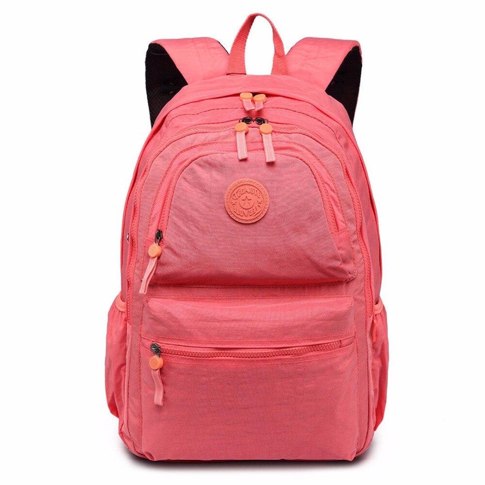 Backpack School-Bag Laptop Travel-Work Girls Boys Children Retro Rucksack Gray