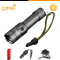 CREE XM-L T6 3800Lumens cree led Torch Zoomable cree LED Flashlight Torch light For 1x18650 Free shipping+Gift[183-T6]