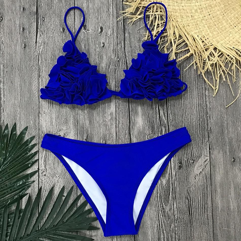 HTB1roHwX2vsK1Rjy0Fiq6zwtXXa8 2019 Sexy Brazilian Bikini Swimwear Women Halter Push Up Bikini Set Swimsuit Female Floral Print Bandage Biquini Bathing Suit