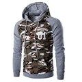 2016 НОВЫЕ поступления военный камуфляж мода толстовки бренд с длинным рукавом пуловер толстовки мужчин с капюшоном толстовка homme hombre