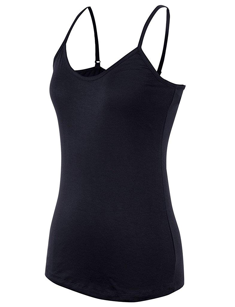Basic Solid Plain Base Layering Spaghetti Strap Rayon Camisole womens clothing