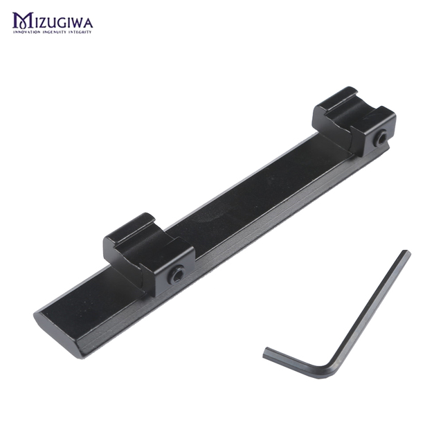 Scope Mount 11mm to 20mm Picatinny Rail Adapter Weaver Rail 10 Slots 124mm Length for Hunting Rifle Air Gun Scope Laser caza