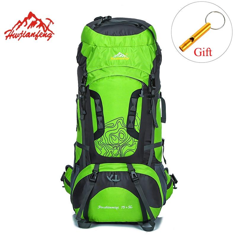HU WAI JIAN FENG sacs à dos de randonnée en plein air 80L sacs de sport imperméables voyage sac à dos hommes Camping randonnée sac à dos Outdoorer