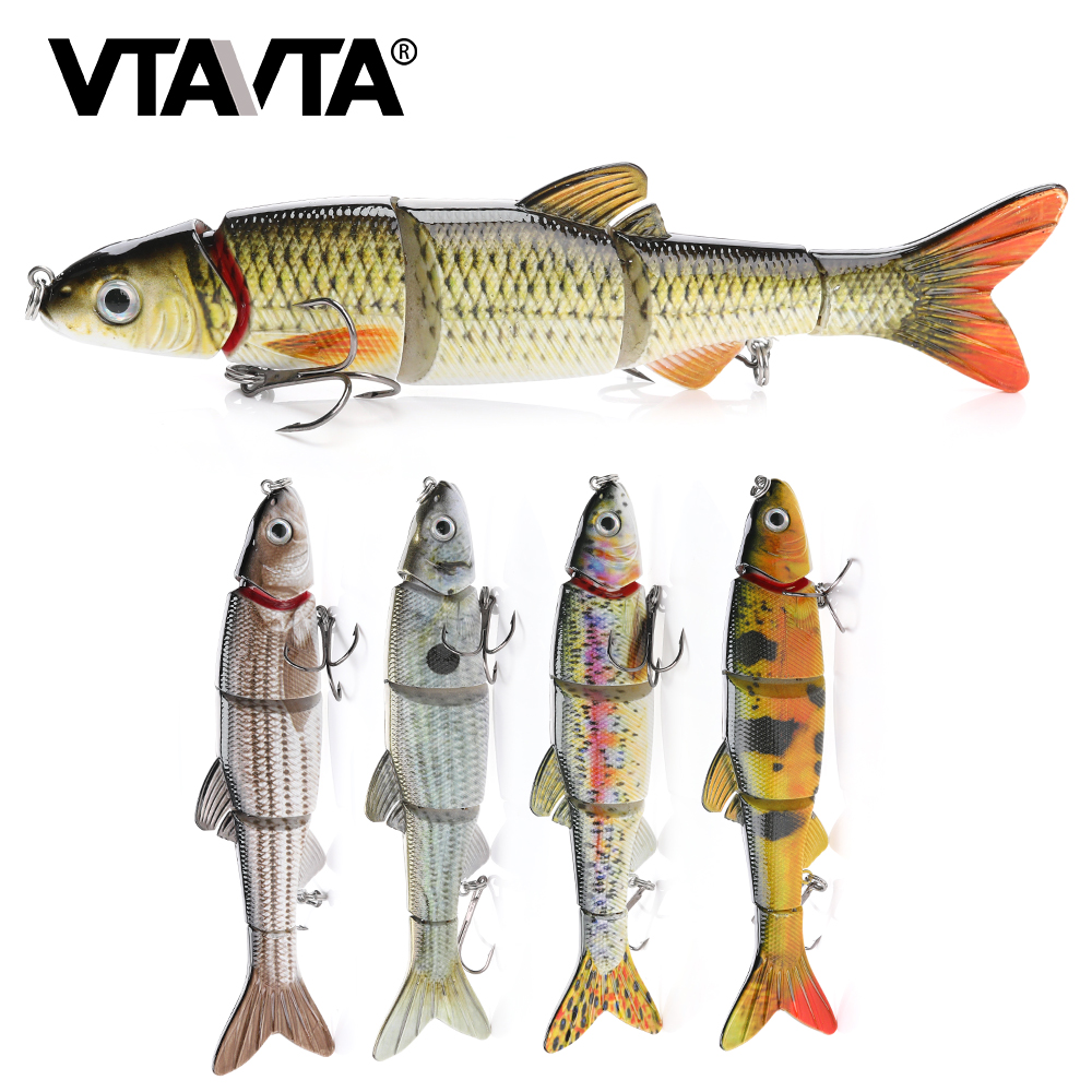 VTAVTA 16cm 36g 5 Segments Fishing Lures Wobblers Hard Bait Jointed Lure Swimbait Crankbaits Crank Wobblers For Pike Fishing